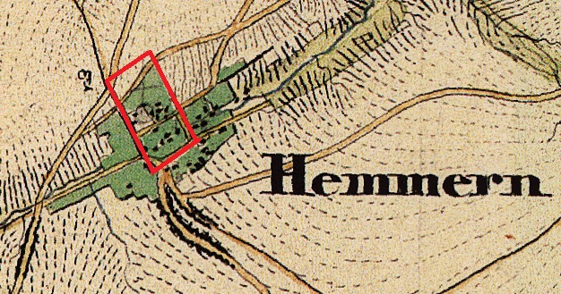 Hemmern Uraufnahme - hyp. Römerlager.jpg