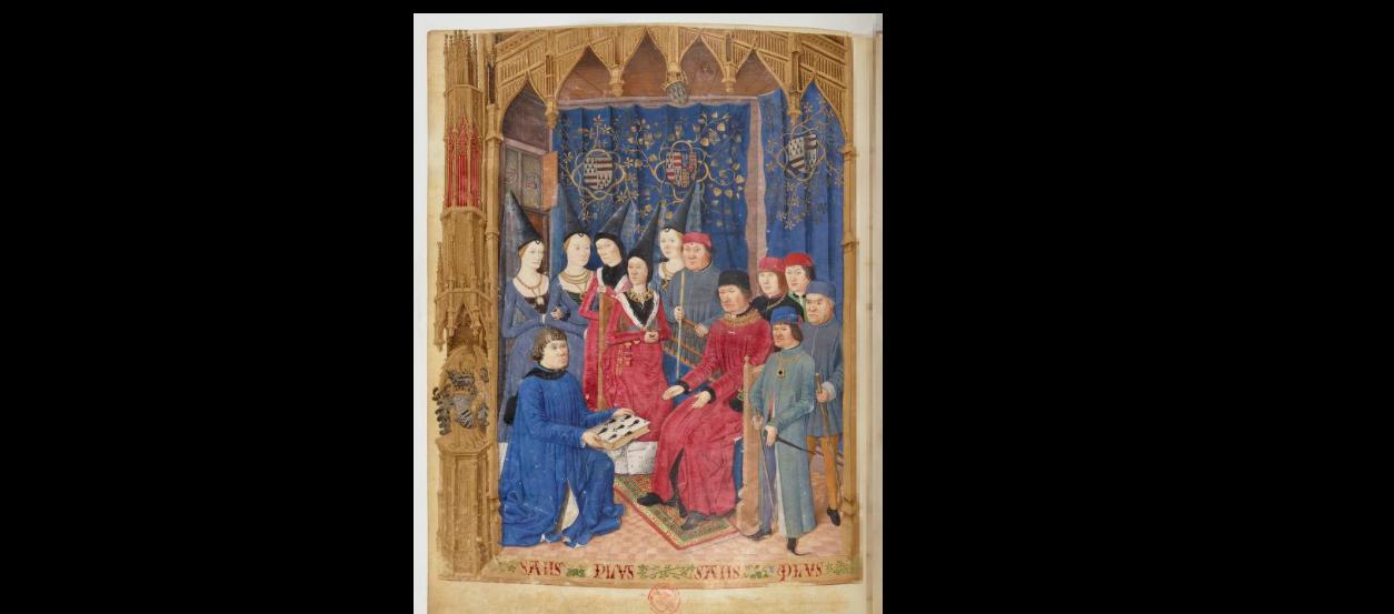 le baud präsentiert der Fürstenfamilie sein Werk.png